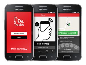 TrackA mobile phone application