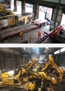 AP Webb Plant Hire Servicing Workshop From Above