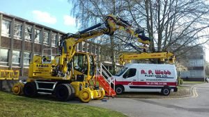 Atlas Road Rail Machine and fully equipped fitters van