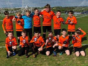 Berkswich Athletics Football Team Under 12s in Division 1 Sponsored by A.P. Webb Plant Hire